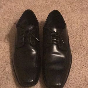 Marc Anthony Black Leather Tie Up Dress Shoes 8.5
